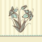retro flower card
