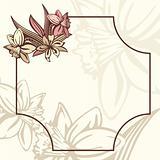 romantic retro frame with flowers