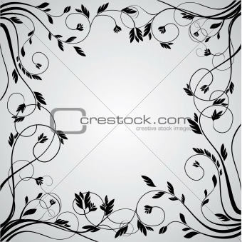 abstract floral curly frame