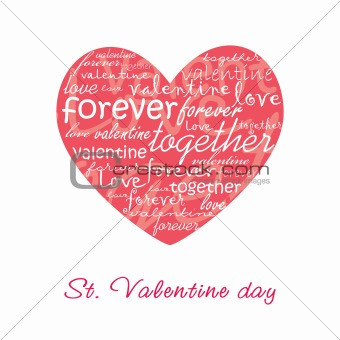 Valentine card illustration