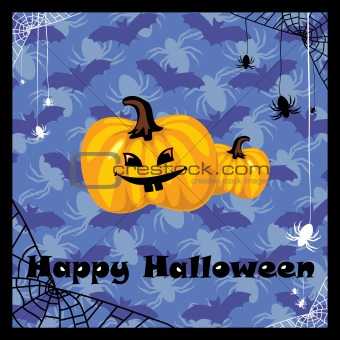 greeting halloween card
