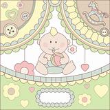 cute vector baby boy card