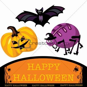 greeting cute halloween card