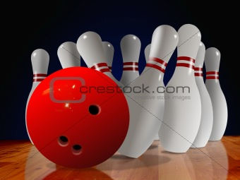 bowling pin down