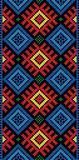 folk Rectangular Cross-stitch on black
