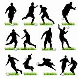 Football silhouettes set 02