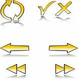 web symbol set