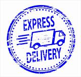 Express Delivery rubber stamp