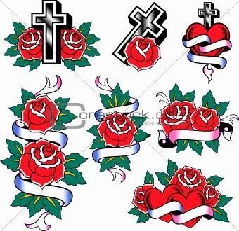 classic rose set emblem