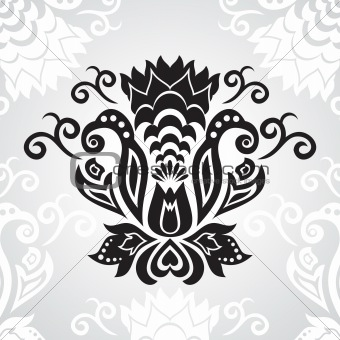 abstract ornamental floral design