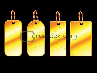 abstract golden tags set