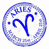 Aries Star Sign rubber stamp