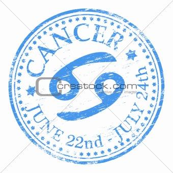 Cancer Star Sign rubber stamp