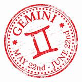 Gemini Star Sign rubber stamp