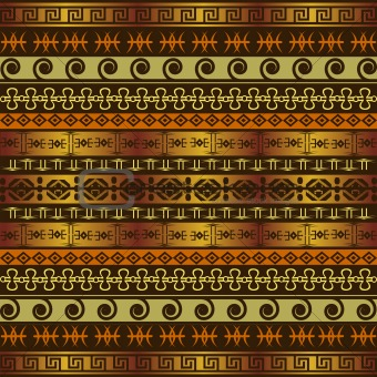 African background with ethnic ornaments