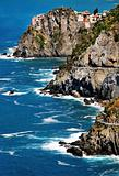 Sea landscape on the Ligurian Coast