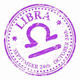 Libra Star Sign rubber stamp