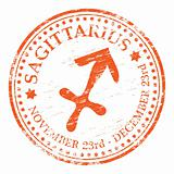 Sagittarius Star Sign rubber stamp