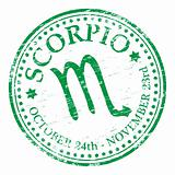 Scorpio Star Sign rubber stamp