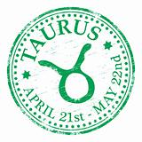 Taurus Star Sign rubber stamp