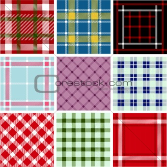 Set of plaid patterns