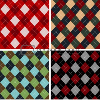 Set of plaid patterns, cottons