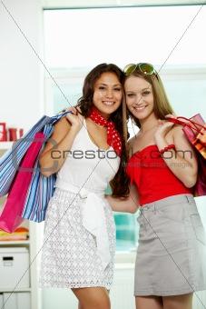 Glamorous shopaholics