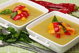 Soup of sweet pepper.