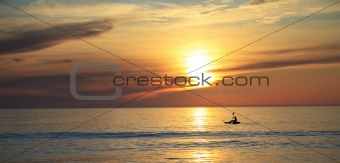 Kayak on the ocean