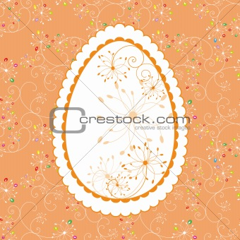 Abstract Easter holiday greeting card