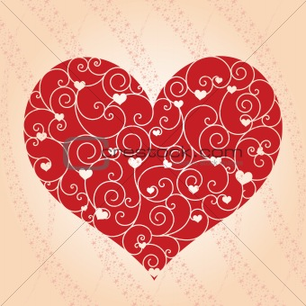 Abstract Valentine day greeting card