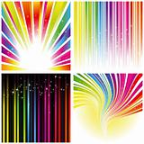 Abstract set of rainbow color stripe background