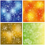 Set of sparkling colorful stardust wallpaper