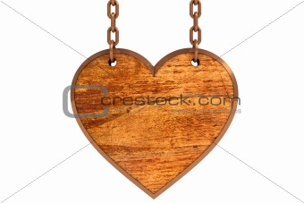 Old wooden heart sign