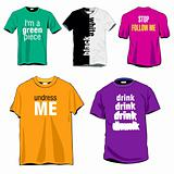 Fun t-shirts templates set