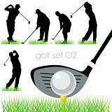 Golf players set.02