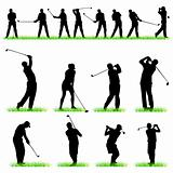 Golf silhouettes set 02