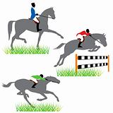 Horse racing set