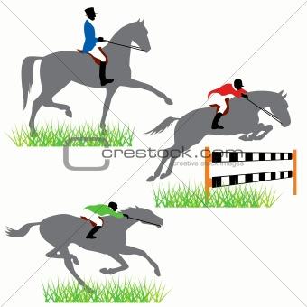 Horse racing set