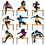 Hurdles athletes set