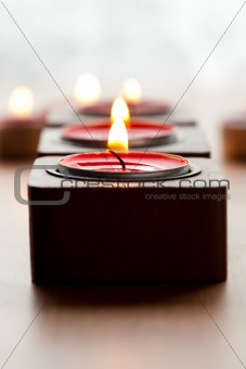 Close-up of candles