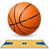 Basketball court floor plan.