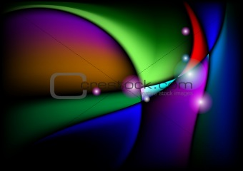 Wavy abstract bright colorful background