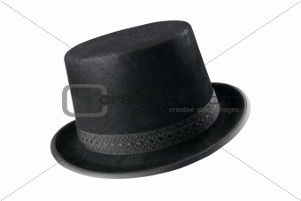 A stylish black hat