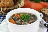 liver spaetzle soup
