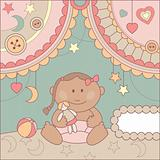 vector cute baby card