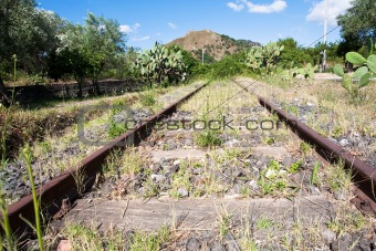 abandoned country railroad