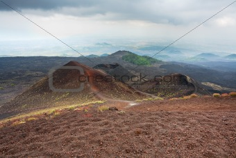 view on Etna craters, Sicily