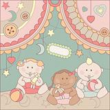 vector cute arrival card