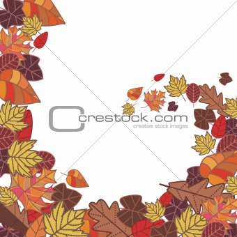 abstract autumn frame